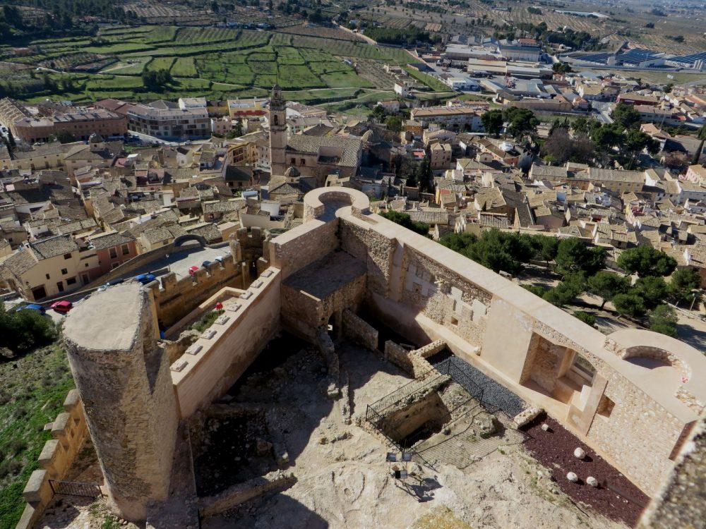 Desde el torreón del castillo de Biar