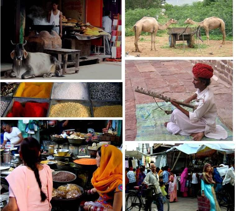 Pasear por la ciudad de Jodhpur es un espectáculo de colorido (India, 2007)