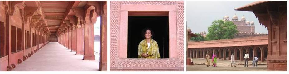 Detalles de la ciudad abandonada de Fatehpur Sikri (India, 2007)