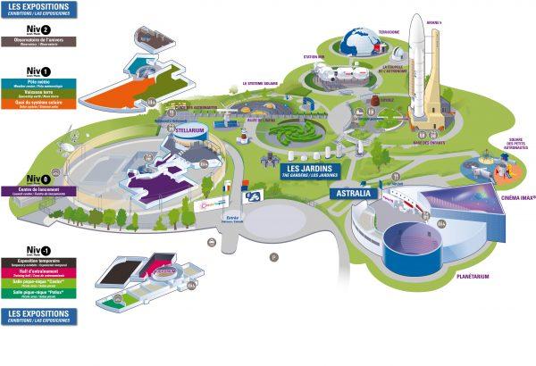 Detalle de la Cité de l'Espace (Francia, 2016)