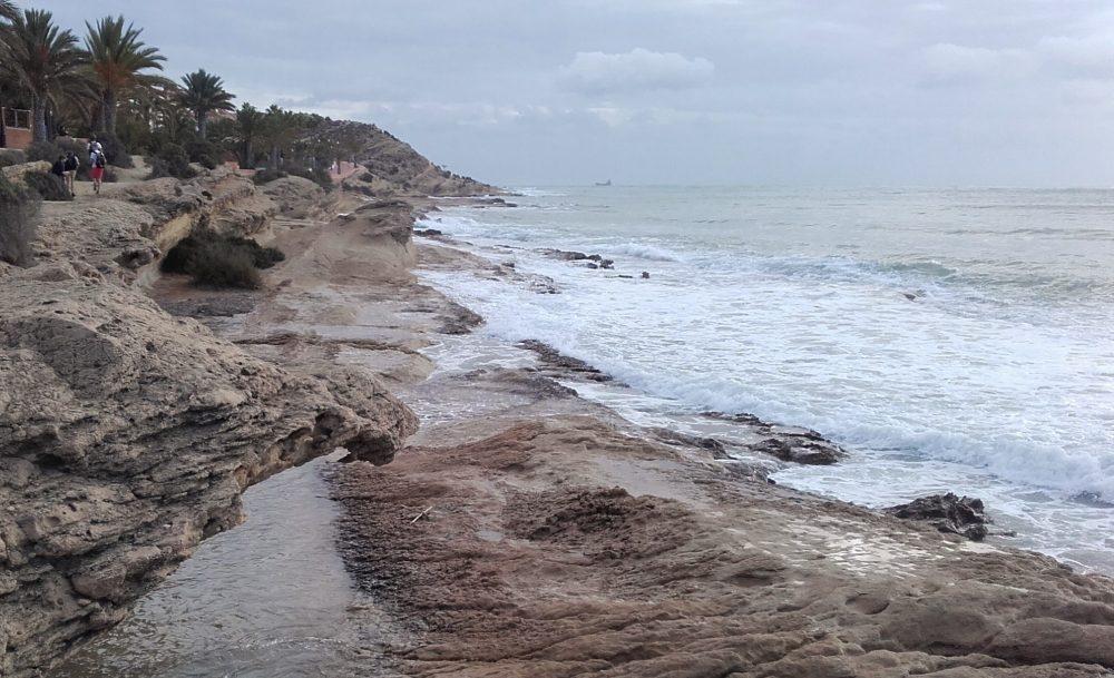 En la zona más cercana al cabo paseamos entre dunas fósiles (Alicante, 2016)