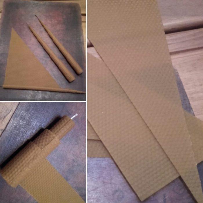 Cortamos las láminas en diversas formas y enrollamos alrededor del cordón
