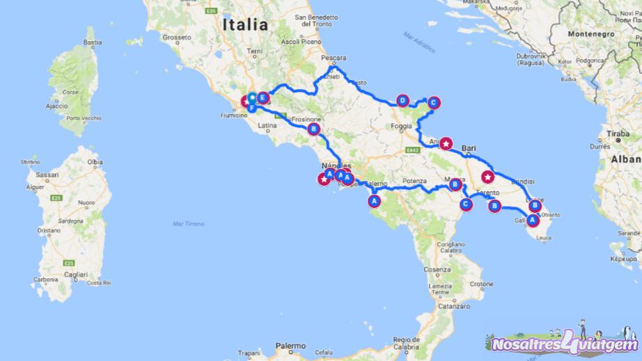 RUTA POR EL SUR DE ITALIA EN AUTOCARAVANA